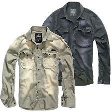 BRANDIT HARDEE Denim Vintage Hemd S-XXL, Herren Jeans Freizeit Shirt Jeanshemd