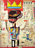 Jean Michel Basquiat Art Pop Repro Reproduction Print Poster Dibond Plexiglass