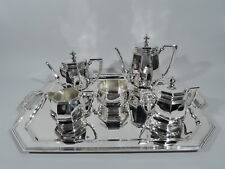 Tiffany Coffee & Tea Set on Tray - 18188 20712 - American Sterling Silver