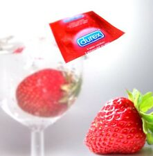 Durex Red Strawberry flavours condoms Fast and Free P&P