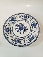 """Indies Blue"" Johnson Brothers Bread + Butter Plates - Set Of 6 (England)"