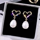 925 Silver Zircon Pearl Butterfly Women Earrings Stud Drop Dangle Jewelry Gifts