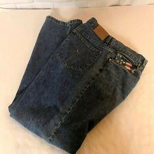 """Tommy Hilfiger Womens Boyfriend Jeans 14 Denim Flag 100% Cotton Straight 32"""""""