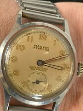 Rare MARVIN HERMETIC Mid size  Gents Vintage Military Style Watch