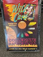 1991 WILD CARD COLLEGIATE BASKETBALL FACTORY SEALED BOX PREMIER EDITION, FUN !!