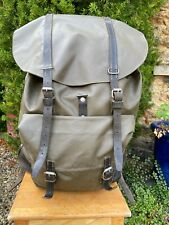 Swiss Army Backpack Rucksack Waterproof Rubberised Vintage 1985 Black leather