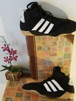 Vintage APE 779 07/ 2006 Adidas Mens Wrestling Shoes Black White Size 5