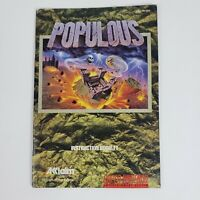 Populous (Super Nintendo, SNES) MANUAL Only Very good - FAST SHIP
