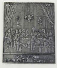 """Relief Kunstguss Eisenguss Plakette Buderus """" Hochzeit zu Kann """" 1978"""