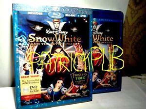 BIANCANEVE EDIZIONE 3 DISCHI USA  SLIPCASE 2 BLU RAY +1 DVD SNOW WHITE SIGILLATA