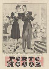 """""""PORTO MOGOA"""" Annonce originale entoilée  L'ILLUSTRATION  1939 Georges LEONNEC"""