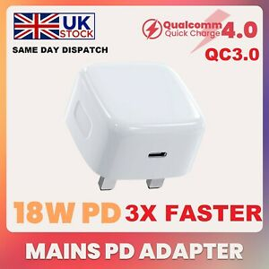 GENUINE ANG® IPHONE 13 12 PRO MAX 18W USB TYPE C POWER ADAPTOR CHARGER PLUG UK