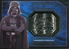Star Wars Masterwork 2016 Silver Yavin Medallion Card [99] Darth Vader