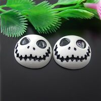 20pcs Resin Ghost Head Cameo Cabochons Flatback Crafts Accessories 24x22x9mm