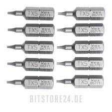 10x WERA TORX® Bits wahlweise T5 T6 T7 T8 T9 T10 T15 T20 T25 T27 T30 T40 TX Bit