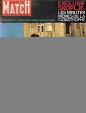 PARIS MATCH N°748 tremblement de terre a skoplje