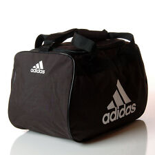 Adidas Diablo Small Duffle Bag Black & White Workout Fitness Gym Shoulder Bag