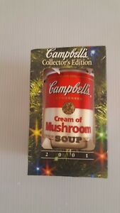 2001 Cream of Mushroom Collector's Edition Christmas Ornament