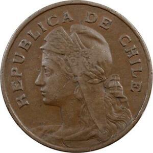 CHILE - 2-1/2 CENTAVOS - 1907 - LIBERTY HEAD