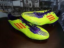 3d14f69d1 ADIDAS F50 AdiZero TRX FG Yellow Purple Soccer Cleats Futball Boots NEW Mens  13
