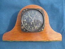 "Vtg WWII ""WALTHAM"" Civil Date Aircraft Aeronautical Clock CDIA in SolidWood Case"