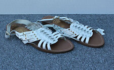 NEW Concept White Leather Strappy Flat Sandals / Gladiators Size 6/39