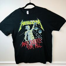 Metallica Metal TShirts And Justice For All 2007 Size Large 100% Cotton Black
