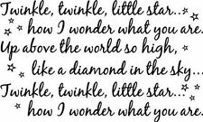 Twinkle twinkle little star... Kids Wall Home Vinyl Decal Wall Decor
