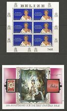 BELIZE SELECTION OF 20 QE2 PERIOD MINI SHEETS FRESH MNH GOOD VALUE SEE  10 SCANS
