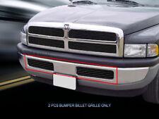 Fits 1994-2001 Dodge Ram Billet Black Grille Grill Bumper