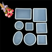 Square Round Silicone Mould DIY Resin Decorative Craft Jewelry Making MoldATSE