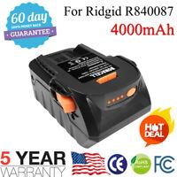 Lithium-Ion Battery For Ridgid 18Volt Max 4.0AH R840087 R840085 R840084 R840083
