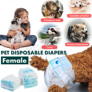 10PCS Pet Dog Nappy Diapers Disposable Puppy Female Sanitary Pants Underpants