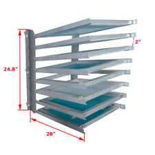 Screen Printing Equipment Aluminium / Wood Screen Frame Storage Rack Free Ship