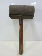 Vintage Rolled Rawhide Leather Mallet