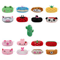 Cute Cartoon Animal Design Plush Pencil Box Case Pocket Zipper Coin Pouch