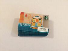"Starbucks 2015  ""San Francisco Cable Car Golden Gate Bridge ""  Cards Lot Of 25"