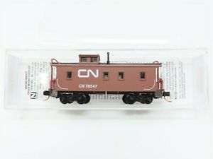 N Scale Micro-Trains MTL 05100280 CN Canadian National 34' Wood Caboose #78547