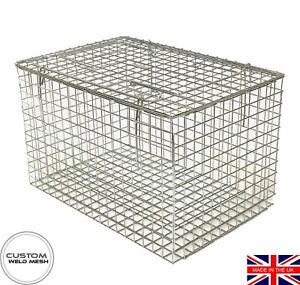 Cat Carrier Cat Basket Professional Quality Silver Zinc Plated Finish *UK Made*
