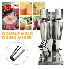 Commercial Milk Shake Maker Machine Stainless Steel Double Head Drink Mixer 110v