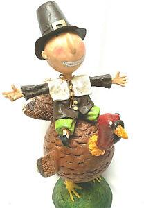 Vintage Turkey Creek Pilgrim Riding On A Turkey Robin Kelso 2007