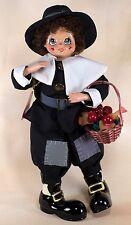 """Brinn's November Pilgrim Calendar Clown Doll 13"""" With Box Coa 1986"""