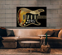 """Stevie Ray Vaughan poster """"First Wife"""" Fender Stratocaster SRV guitar 16"""" x 24"""""""