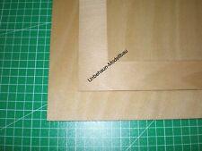 5 Sperrholzplatten 3mm Pappel TOP Qualität AB//BB 50x57cm Holz Modellbau basteln