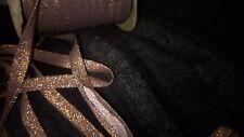 10 m de biais  4 mm plié col cuivre lurex