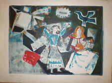 Ubeda Augustin Lithographie originale signée art abstrait abstraction