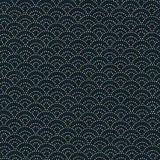 Indigo Navy  Asian Japanese Quilt Fabric (Dotted Seigaiha) -  By the Half Yard
