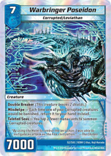 Kaijudo 1X WARBRINGER POSEIDON Super Rare S2/S10 10INV Invasion Earth 2013
