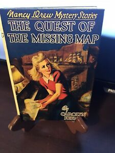 VINTAGE 1942 THE QUEST OF THE MISSING MAP BOOK HARDCOVER DUST JACKET NANCY DREW