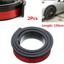 2X Black 4.5cm Car Wheel Eyebrow Arch Trim Strip Fender Flares Covers Protector